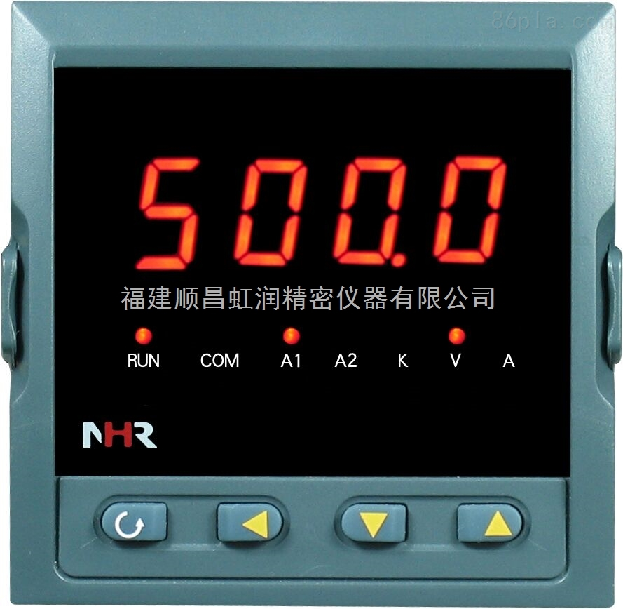 NHR-3200系列交流电压/电流表 概述 NHR-3200系列交流电流电压表 为新 一代可编程智能仪表,它采用大规模集成电路,应用数字采样技术,对单相电气线路中的电压、电流进行实时测量、显示和控制,并通过RS485接口或模拟量变送输出接口对被测量电量数据进行远传。产品取代了传统模拟指针式电表,具有较强的抗干扰能力、可靠性、稳定性以及较高的性价比等特点;产品操作简单,广泛应用于能源、机械、化工、轻工等行业。产品设计遵循电力仪表国标和行标GB/T22264-2008《安装式数字电测量仪表》、JB/T1073