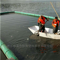 太湖水上垃圾拦截浮子聚乙烯拦污排设计