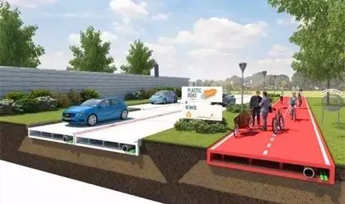 荷兰用废旧塑料打造出全新修路方式