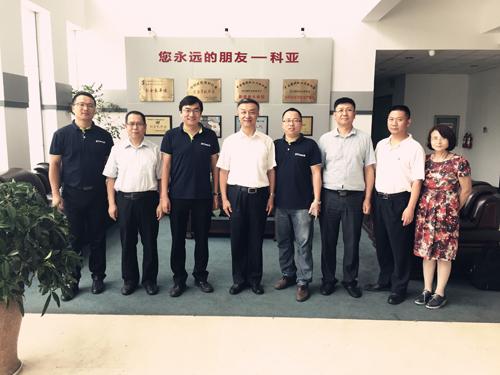 塑料加工工业协会会长朱文玮一行莅临南京科亚装备集团参观指导